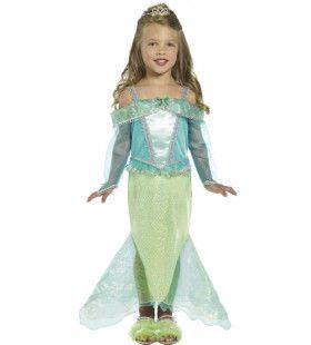 Zeemeermin Prinses Meisje Kostuum