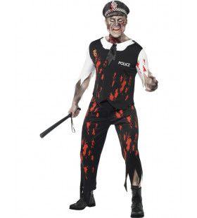 Zombie Politieagent Man Kostuum