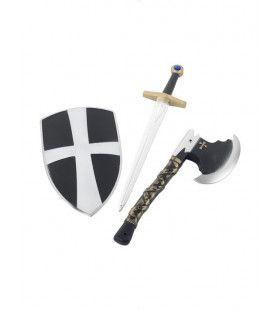 Zwarte Kruisvaarder Set Volwassen