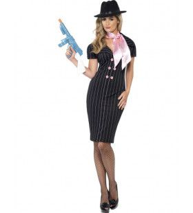 Vrouwelijke Gangster Vrouw Kostuum