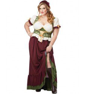 Middeleeuwse Boerin Kostuum (Grote Maat) Vrouw
