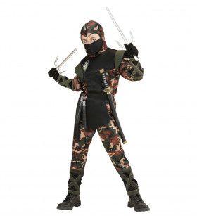 Ninja Soldaat Camouflage Jongen Kostuum
