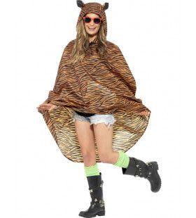 Tijger Regen-Poncho Kostuum