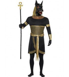Mythische Egyptische God Annubis De Jackhals Kostuum Man