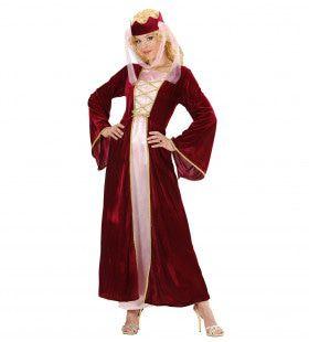 Middeleeuwse Koningin Rose-Marie Vrouw Kostuum