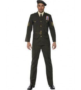 Mannen Officier In Oorlogstijd Man Kostuum