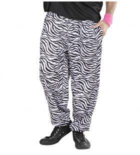 Baggy Broek 80s Zebra Man