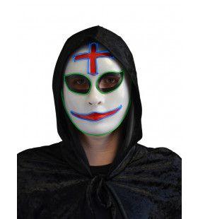 Grijnzende Clown Masker Met Licht