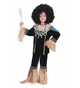 Inboorling Jongen Smurfafa Kind Kostuum