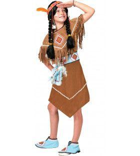 Anoki Strijder Indiaan Meisje Kostuum