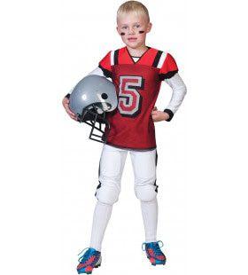 American Football Highschool Quarterback Jongen Kostuum