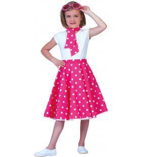 Roze Fifties Rok Meisje