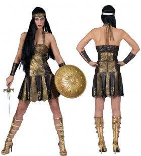 Romeinse Strijders Gladiatrix Vrouw Kostuum