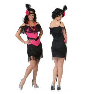 Charleston Fuchsia Vrouw Kostuum