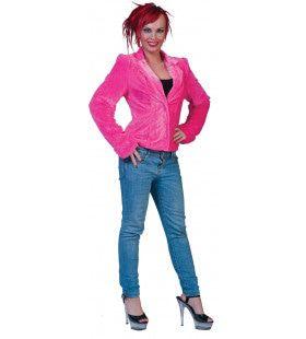 Fuzzy Jasje Roze Vrouw