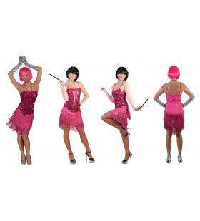 Glitter Fancy Flapper Jurk Roze Vrouw