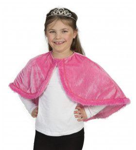 Roze Prinsessen Cape Meisje