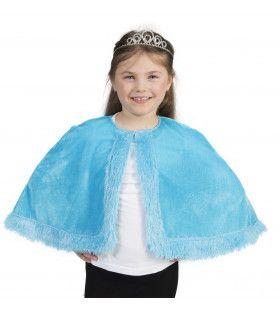 Aqua Prinsessen Cape Meisje Kostuum