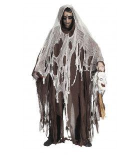 Luxe Zombie Cape Bruin Kostuum