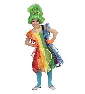 Regenboog Prinses Rebecca Meisje Kostuum