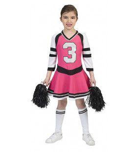 Blije Becky Cheerleader Meisje Kostuum
