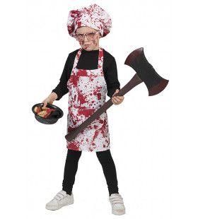 Slachtende Slager Jongen Kostuum