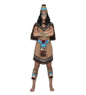 Azteekse Krijger Tomatl Vrouw Kostuum