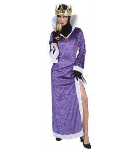 Giftige Venijnige Koningin Vrouw Kostuum