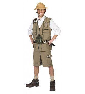 Fake Freek Safari Man Kostuum