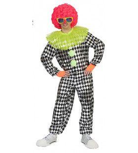 Lachwekkende Pierrot Clown Man Kostuum