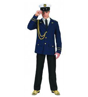 Cruiseschip Kapitein Kalabreeze Man Kostuum