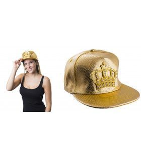 Baseball Cap Met Gouden Kroontje