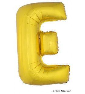 Letterballon E Goud