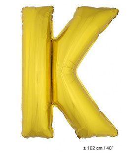 Ballon Letter K Goud