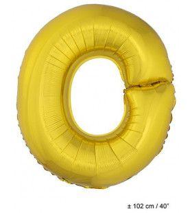 Letterballon O Goud