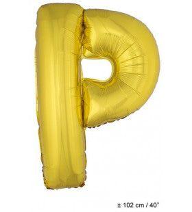 Letterballon P Goud