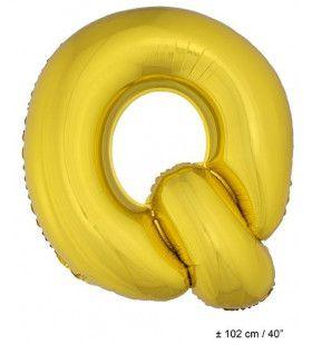 Ballon Letter Q Goud