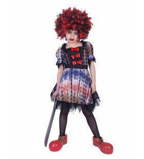 Akelig Ongezellig Halloween Clown Meisje Kostuum