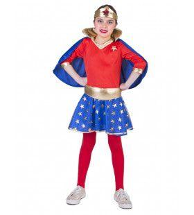 Sterker Dan Superman Wondergirl Meisje Kostuum