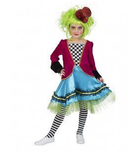 Boosaardige Mad Hatter Meisje Kostuum
