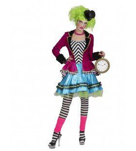 Boosaardige Mad Hatter Vrouw Kostuum