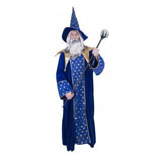 Eerbiedwaardige Oude Sterren Tovenaar Man Kostuum