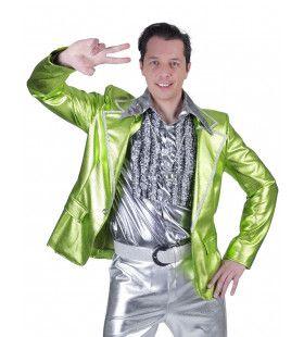Glanzend Groen Disco Godheid Colbert Man