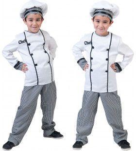 Chef Kok Jonnie Smikkel Kind Kostuum