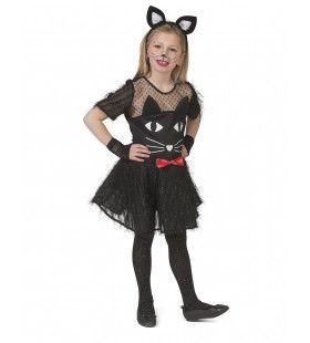 Kitty Black Meisje Kostuum