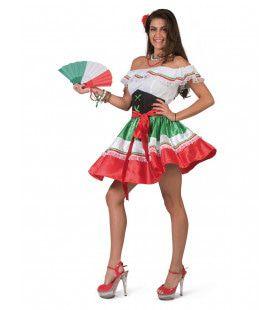 Caramba Carlita Hete Mexicaanse Nachten Vrouw Kostuum