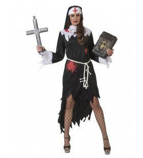 Door De Duivel Bezeten Bloederige Non Vrouw Kostuum