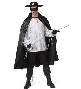 Zwarte Cape Mexicaanse Held Zorro Man