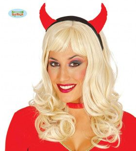 Haarband Duivel Rode Hoorntjes