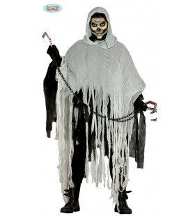 Gescheurde Zombie Mantel Grijs Kostuum